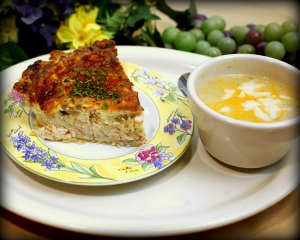 16-Crab Quiche with Jalapeno Cheese Soup